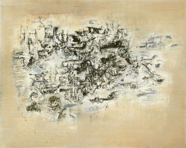 赵无极《09.02.60》 油彩 画布 73 x 92 cm