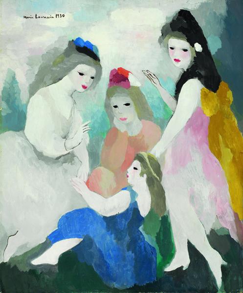 玛丽·罗兰珊《城堡里的孩子》 1930年 油彩 画布 65.7x54.5 cm