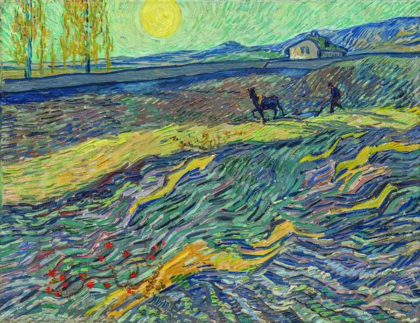 梵高《田野里犁地的农夫》,2017年纽约佳士得以8131.25万美元(约合人民币5.5亿元)成交